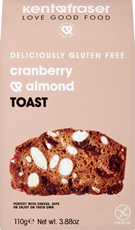 Cranberry and almond toast